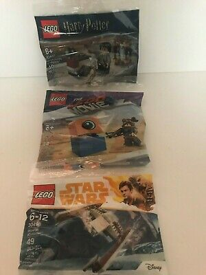 3 Lego Poly Bag Sets Harry Potter~Star Wars~The Lego Movie Poly Bag lot of 3