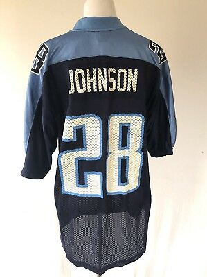 Discount VINTAGE NFL PLAYERS Tennessee Titans Chris Johnson # 28 Football  for cheap
