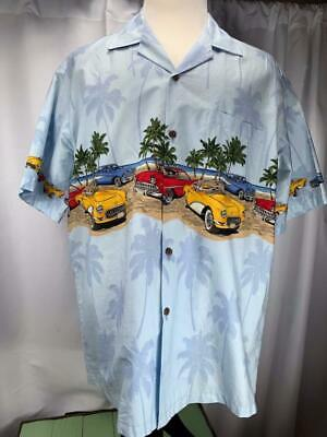 07dec64e Hawaiian Aloha Republic Mens 2XL XXL Volkswagen Beetle Bug Old Cars Shirt  Beach.
