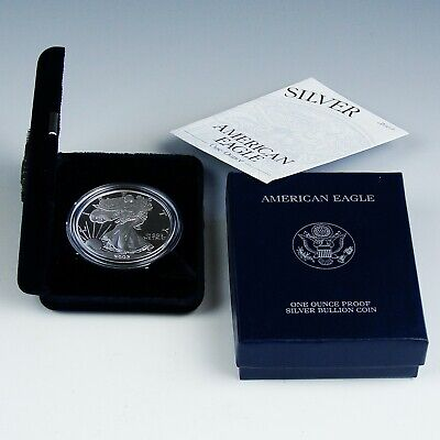 2002-W United States American Silver Eagle Dollar w/ Box & CoA PROOF