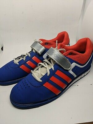 91ffc9ba65ca Adidas Powerlift 2 Men's Weightlifting Shoes - Red White Blue G96435 - Size  12