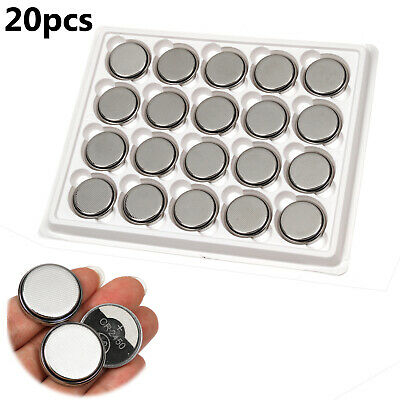 20pcs CR2450 DL2450 3V Button Coin Cell Battery for Watch Single Use Batteries