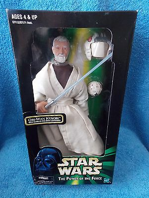 "Star Wars  Obi-Wan Kenobi  With Glow In The Dark Lightsaber   12""  Figure"