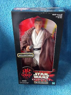 "Star Wars  Episode I  Obi-Wan Kenobi with Lightsaber  12"" Action Figure Doll"