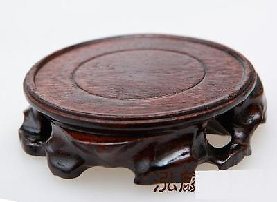 Chinese Black Hard Wood Round Base For Snuff Bottle, Pot,vase things