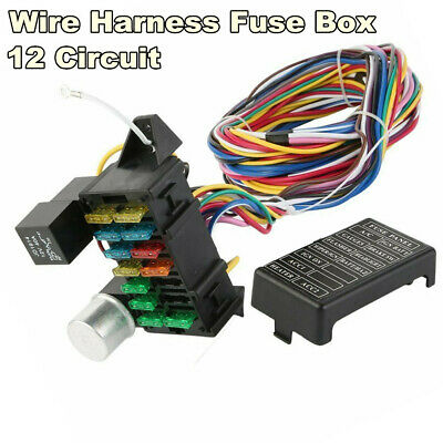 Enjoyable 14 Circuit Wire Harness Fuse Box Street Hot Rod Wiring Car Truck 12V Wiring Digital Resources Sapredefiancerspsorg
