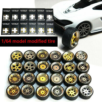 1/64 Scale Alloy Wheels - Custom Hot Wheels, Matchbox,Tomy, Rubber  Tires Z7Q0