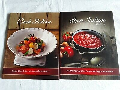 2 ITALIAN COOKBOOKS Bulk Lot