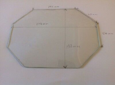 Clock Glass Convex Octagonal Clockmakers Spare Part