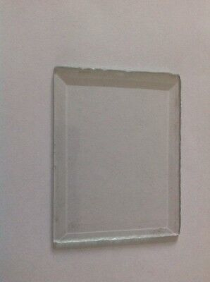 Bevelled Clock Glass Bevelled Rectangle  71mm 54mm Ref3