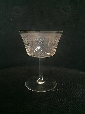 "Edwardian Crystal Lady Hamilton Pall Mall Champagne Coupe 4 1/2"" Tall c1910"