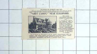 1936 Five Bedrooms, 2 Acres, Grey Ladies Near Guildford For Sale