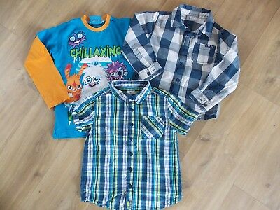 Small Bundle Of Boys Shirts & Free Top Age 4-5 Yrs
