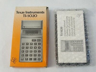 Calculator Texas Instruments Ti-1020 new & sealed vintage retro collector's