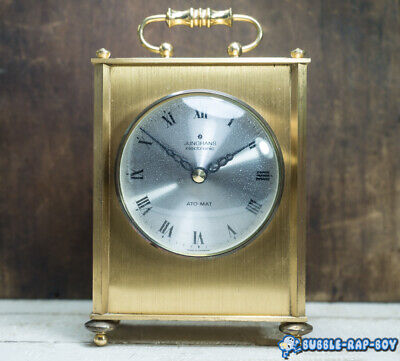 Vintage Junghans Electronic Ato-Mat Carriage Clock Made In Germany