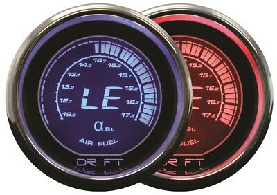 DRIFT 52mm IRIDIUM RED DIGITAL AIR  FUEL GAUGE