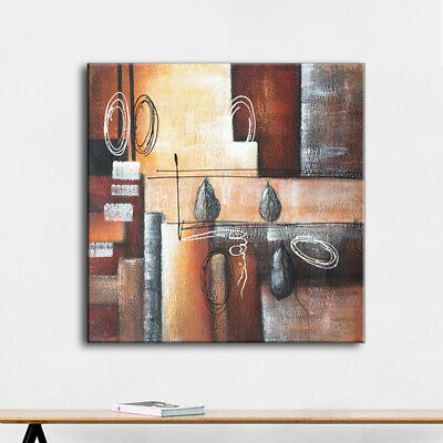 Modern Abstract Wall Art Oil Painting Pure Hand Painted Stretched Canvas Framed