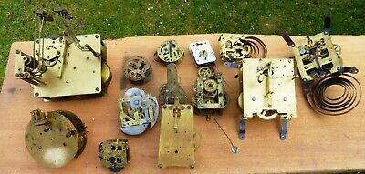Vintage clock movement parts spares repairs steampunk