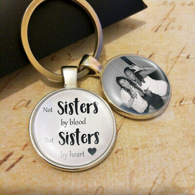 Personalised Best Friends Photo Keyring Birthday Gifts Friendship Memory Present