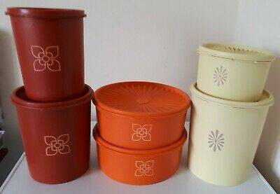 Vintage Tupperware Harvest Containers x 6