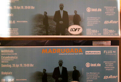 Madrugada - 2 Tickets - Berlin 20.04. Columbiahalle Industrial Silence Tour