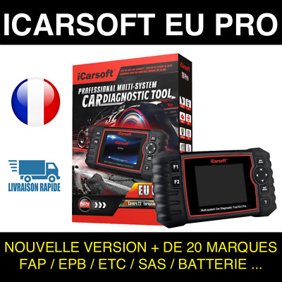 VALISE INTERFACE iCarsoft EU PRO VOITURE SCANNER OBD OBD2 DIAGNOSTIC MULTIMARQUE