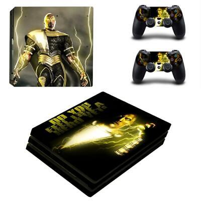 Video Games & Consoles Shop For Cheap Regular Ps4 Consoles Black Adam Shazam Dc Comic Vinyl Skins Decals Sticker Cover