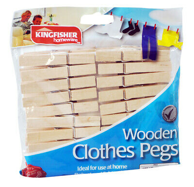 Wooden Clothes Pegs Pins Clips Washing Line Airer Drier Line Wood