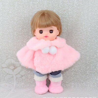 Soft Comfort Plush Cape Boots For 25cm Doll Party Outfit Christmas Gift Pink