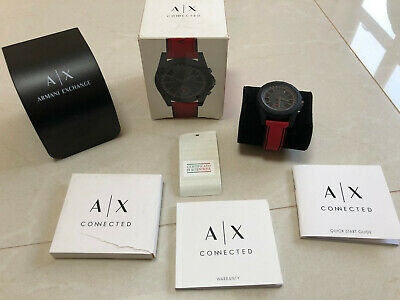 AX Armani Exchange Connected Silicone Mens Watch (NDW2R)