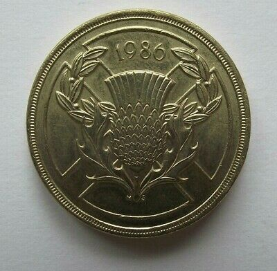 1986 Commonwealth Games Two Pound £2 Coin Scotland
