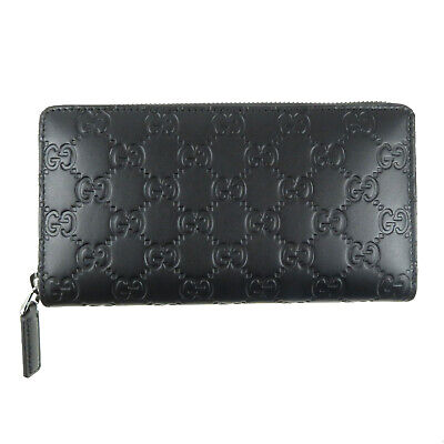 fafc127a5f8f5d GUCCI zip around Long wallet 307987 Gucci island leather black Mens Long  wallet