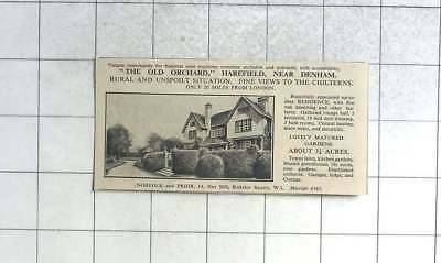 1936 The Old Orchard, Harefield Near Denham For Sale With 3 Acres