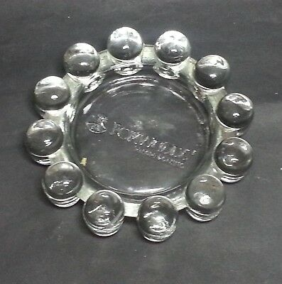 """Foxwoods Casino Round Ashtray Glass 5"""" in Diameter 1"""" tall Collectible"""