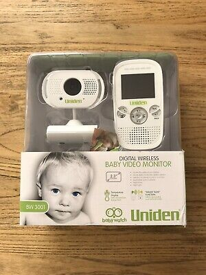 Uniden Baby Video Monitor BW 3001 Digital Wireless RRP $149.95