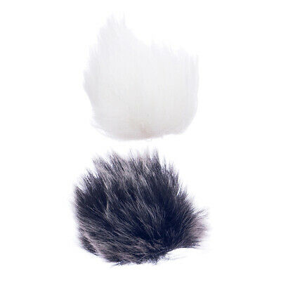2pcs Universal Lavalier Lapel Microphone Mic Fur Wind Muff Windscreen 15mm