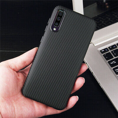 For Samsung Galaxy A50 A30 10 Luxury Carbon Fiber Silicone Protection Case Cover