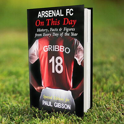 ARSENAL Football Club Gunners Personalised On This Day BOOK Facts CHRISTMAS Gift