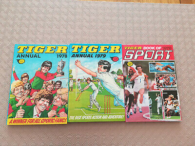 3 x TIGER ANNUALS 1978 & 1979 HARDBACK VINTAGE ORIGINALS – EXCELLENT CONDITION