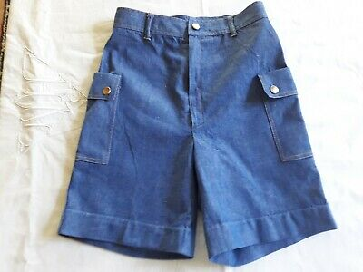 Short Bermuda jean chambray enfant 9a VINTAGE 70 CHILD DENIM BERMUDA SHORTS 9Y