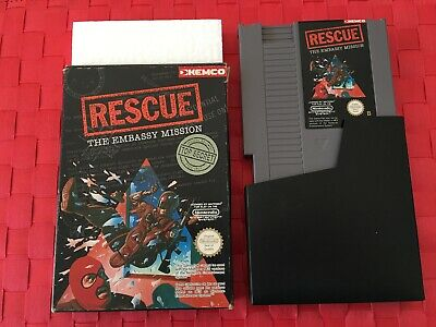 Rescue The Embassy Mission !!!!! Nintendo Nes - Avec Boite D'origine - Notice