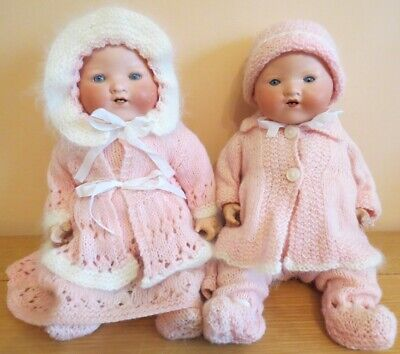 Very Cute Antique Armand Marseille My Dream Baby Doll Twins both Marked AM351