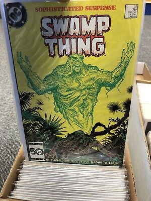 Swamp Thing Saga comic collection, including issue 37 JOHN CONSTANTINE, Job Lot!