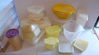 Large lot of Vintage assorted Tupperware 33 pieces