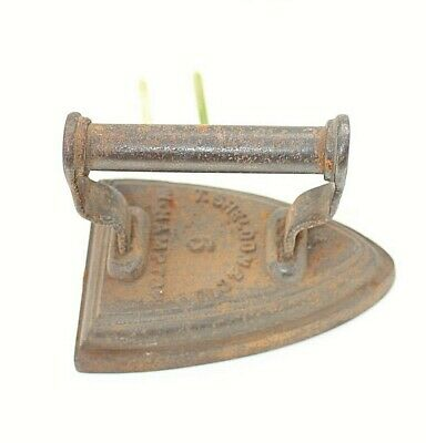 Sheldon flat iron Size 6 Antique W Hampton Doorstop Bookend Paperweight Prop A