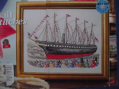 Set Sail  A Magnificent Sampler Of Ship Ss Great Britain Cross Stitch Chart