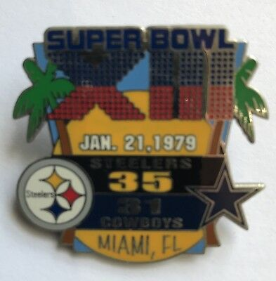 Pittsburgh Steelers Super Bowl XIII 13 Champions Pin vs Dallas Cowboys PSG