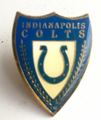 Indianapolis Colts Metal Coat of Arms Shield Pin Vintage 1994 NFL Licensed
