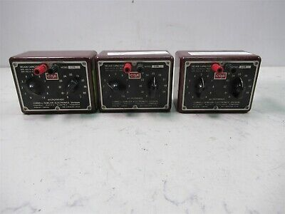Lot of 3 Cornell Dubilier Electronics Decade Capacitor Model CDB Boxes