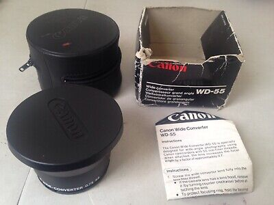 Canon WD-55 Camera Video LENS WD 55 0.7x WIDE CONVERTER 55MM H475